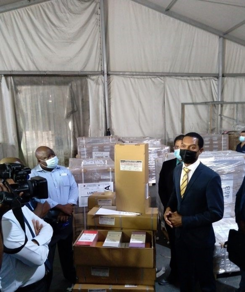 Zambia: First batch of 95 pallets for 40 constituencies containing ballot paper have arrived