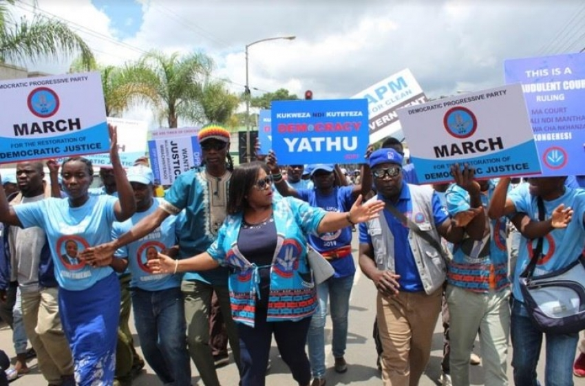 Malawi-DPP holds anti constitutional court protests in zomba